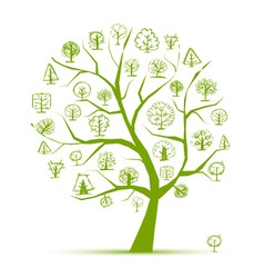 Concept from art trees green for your design vector