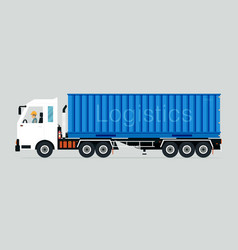 container truck vector image