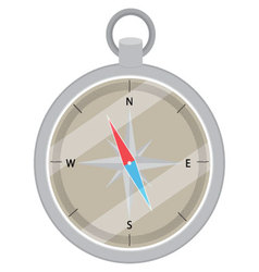 Device compass flat design vector image