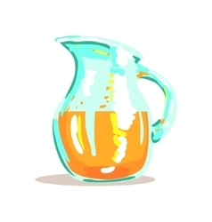 Glass Jug With Fresh Squeezed Orange Juice Drink vector image vector image