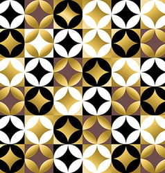 Gold mosaic tile seamless pattern in vintage style vector