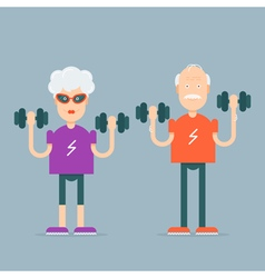 Grandparents sport characters vector