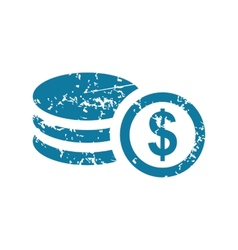 Grunge dollar rouleau icon vector