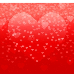 hearts on red vector image