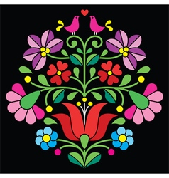 Kalocsai embroidery - hungarian folk pattern vector