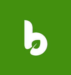 Letter b eco leaves logo icon design template vector