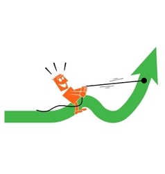 man saddled the arrow and rides on it vector image vector image