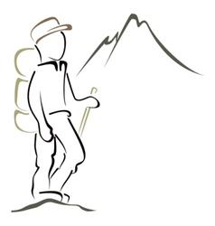 Mountaineering symbol vector image