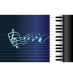 Piano music vector image