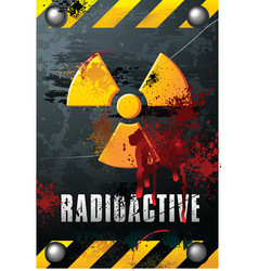 radioactivity plate vector image vector image