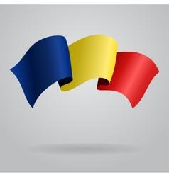 Romanian waving flag vector