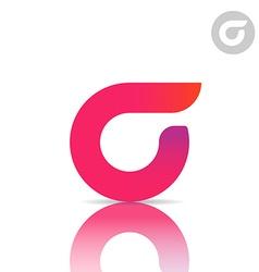 Sigma letter icon vector