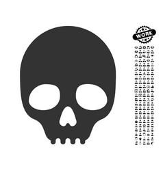 Skull icon with people bonus vector