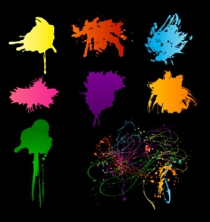 spectrum blots vector image vector image