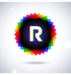 Spectrum logo icon Letter R vector image vector image