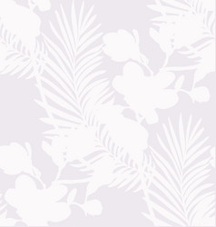 Subtle seamless pattern with drawn flowers plants vector
