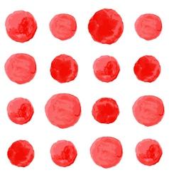 watercolor circles seamless pattern vector image vector image