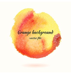 Watercolor grunge background yellow and orange vector