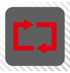 Exchange Arrows Rounded Square Button vector image