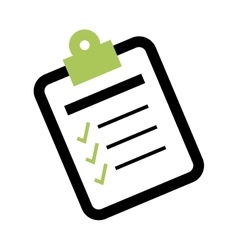 Checklist form symbol vector