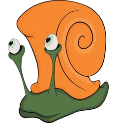 Malicious snail the monster cartoon vector