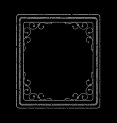 Gray frame on black background vector