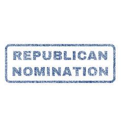 Republican nomination textile stamp vector