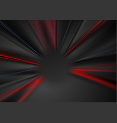 Abstract dark red and black blurred beams vector