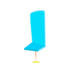 cartoon office chair vector image