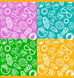 Summer seamless pattern vector