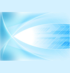 Bright blue abstract wavy tech background vector
