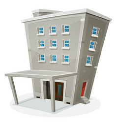 Building house with offices or apartments vector