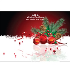 Abstract red Christmas background vector image