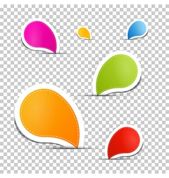 Colorful labels tags set vector