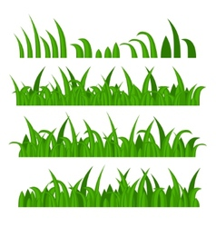 Green grass constructor on white vector