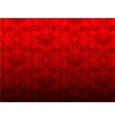 damask back vector image