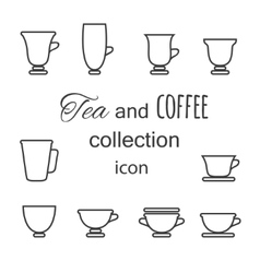 Coffee and tea cup vector