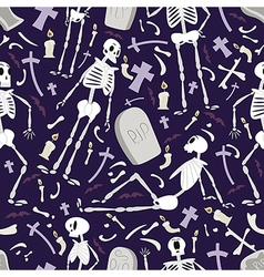 Halloween skeletons pattern 02 vector