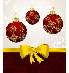 background with christmas balls - vector image