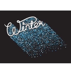 Handwritten winter lettering vector