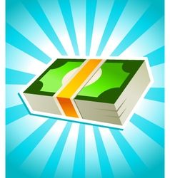 Stack money vector