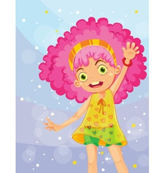 Girl in pink vector image