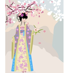 China girl vector