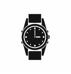 Swiss watch icon simple style vector