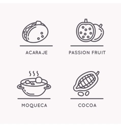 National food and fruit vector