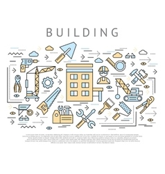 Building and construction concept vector