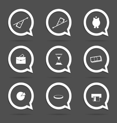 Business icon in speech bubble vector