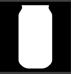 Can the white color icon vector