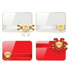 cards with ribbons vector image