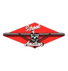 Color vintage aviation emblem vector